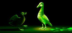 Fluorescent ducks