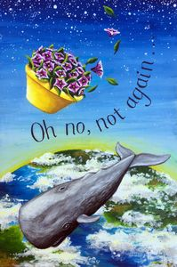 Whale and petunias