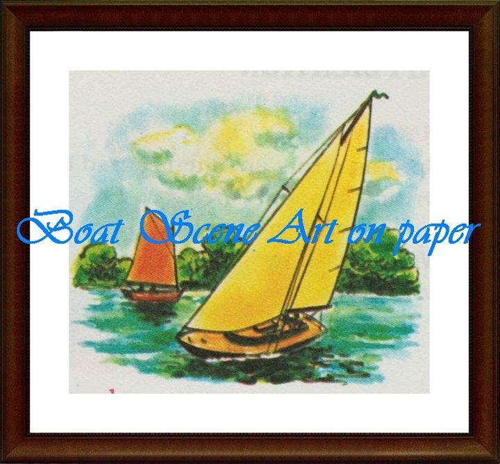 Boat Scene - Matrix Collection