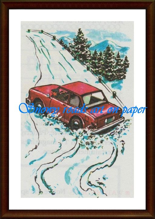Snowy Roads - Matrix Collection