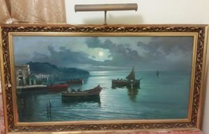 Extra large antique painting