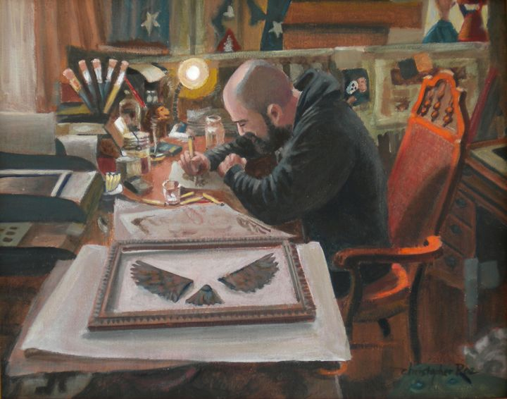 The artist Will in his studio - Christopher Roe