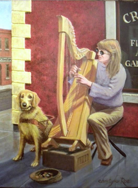 Blind Harpist of Baggot Street - Christopher Roe