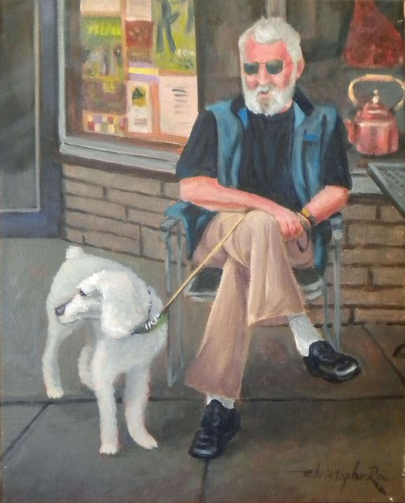 A man and his dog - Christopher Roe