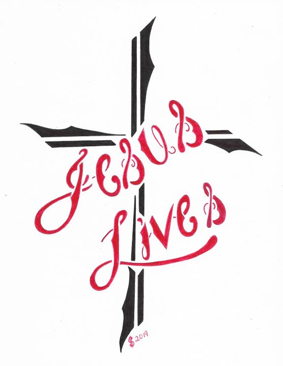 Jesus Lives - Lost Art by Inmates