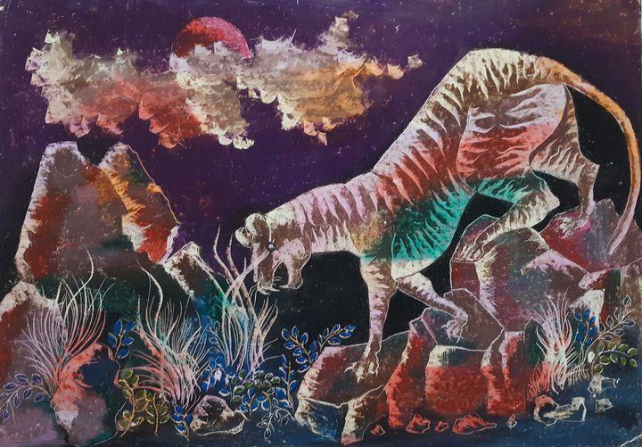 a tiger at night - borda