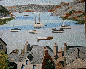 Portree harbor Scotland - Byroart