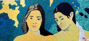 Two Tahitian girls