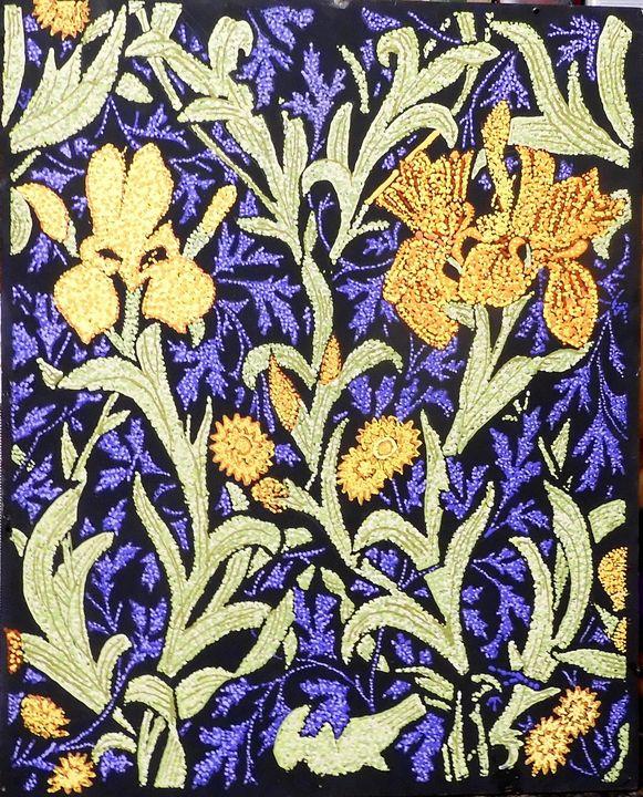 Orange and yellow iris - Byroart