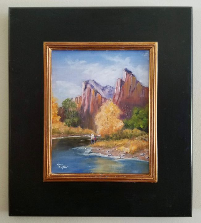 Fishing at Zion National Park - William Temple Fine Art