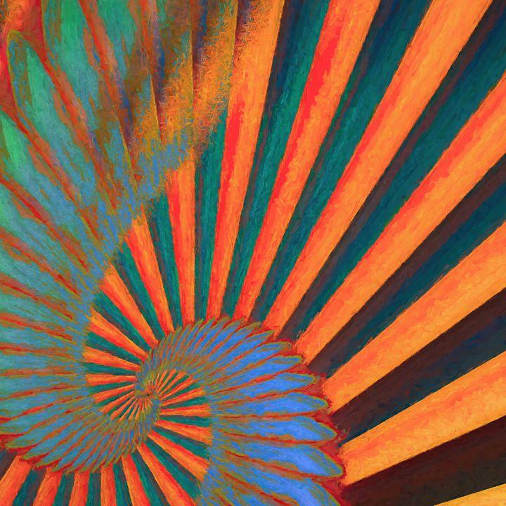 Composition in Orange, Blue & Green2 - Jon Woodhams