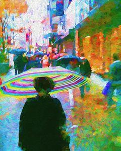 Rainy Morning on 34th Street - Jon Woodhams