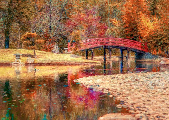 Red Bridge Autumn - Jon Woodhams