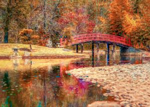 Red Bridge Autumn - Jon Woodhams