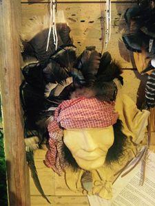 Handmade Leather Indian Mask