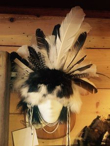 Hand Made Leather Indian Mask - Summers Art Boutique
