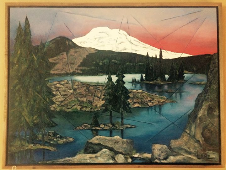 Sparks Lake/ Mount Bachelor - Summers Art Boutique