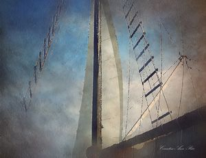 Onboard Rigging Oil Painting
