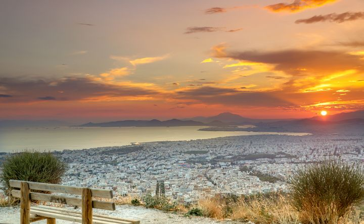 sunset Athens - pixel