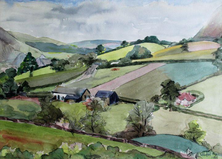 Builth Wells Landscape By W F - PowysArt