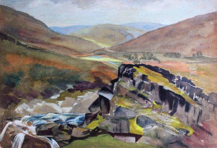 View of Elan Valley Mid Wales - PowysArt