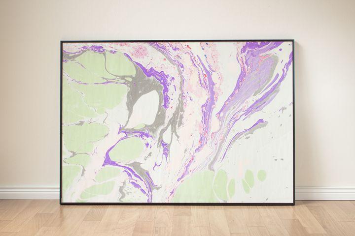 Purple Marbled River - Marbled Unique Pieces