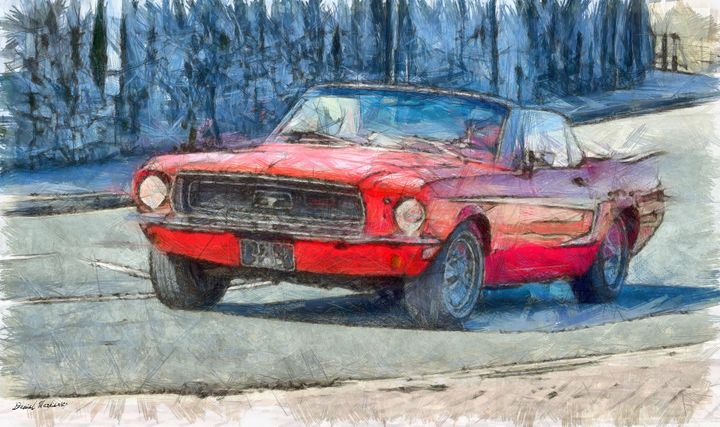 Red Ford Mustang I - Daniel Markiewicz