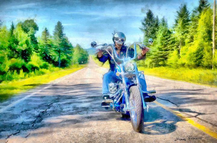 Harley on road - Daniel Markiewicz