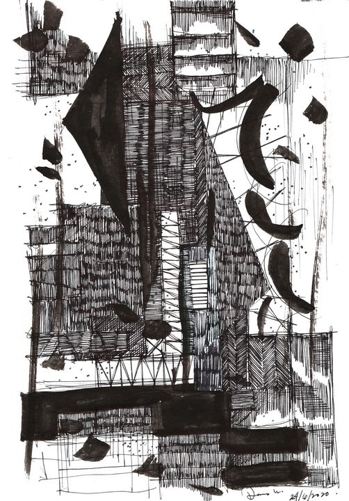 Monochrome Sketch Book 2_ Sketch 1 - Dana Krystle