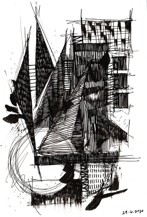 Monochrome Sketch Book 2_ Sketch 3 - Dana Krystle