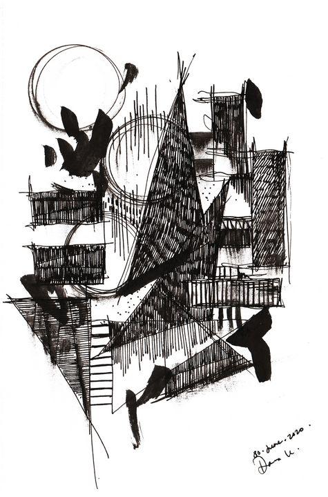 Monochrome Sketch Book 2_ Sketch 4 - Dana Krystle