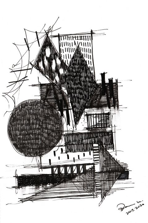 Monochrome Sketch Book 2_ Sketch 6 - Dana Krystle