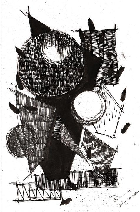 Monochrome Sketch Book 2_ Sketch 8 - Dana Krystle