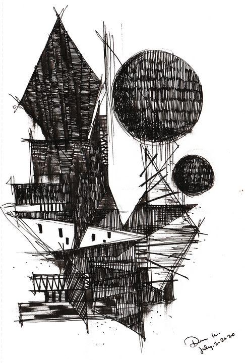 Monochrome Sketch Book 2_ Sketch 5 - Dana Krystle