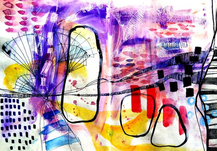 Art series   Abstract Illustrations - Dana Krystle