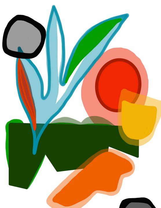 Leaves | Abstract Art - Ravina Oberoi Artwork