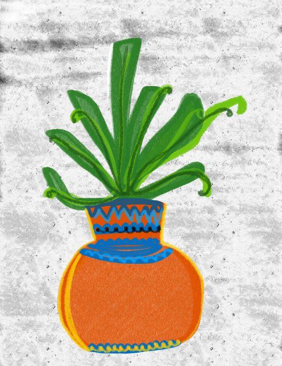 Plant, Digtial Painting - Ravina Oberoi Artwork