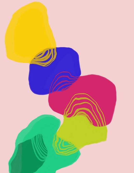 Flow   Digital Painting - Ravina Oberoi Artwork