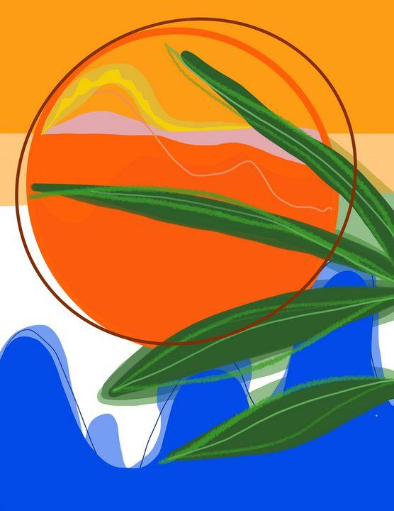 Sunset   Digital Painting - Ravina Oberoi Artwork