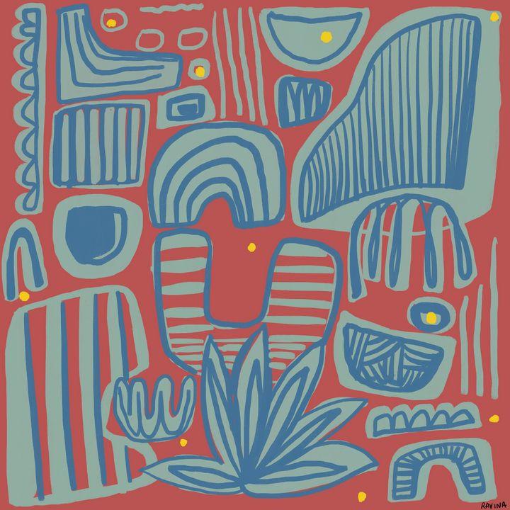 Forms   Abstract Digital Painting - Ravina Oberoi Artwork