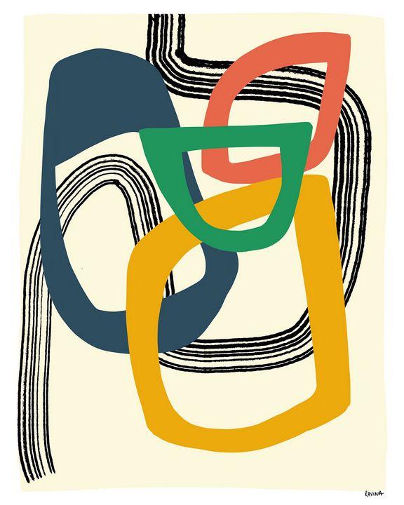 Open Patterns Digital Artwork - Ravina Oberoi Artwork
