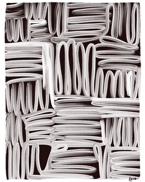 Lines, Abstract Digital Art - Ravina Oberoi Artwork