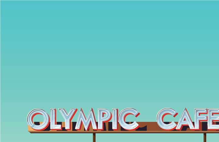 Olympic Cafe Sign - Belloworks