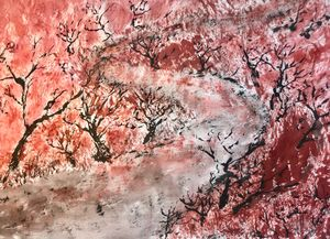 sanguine Trees along the river