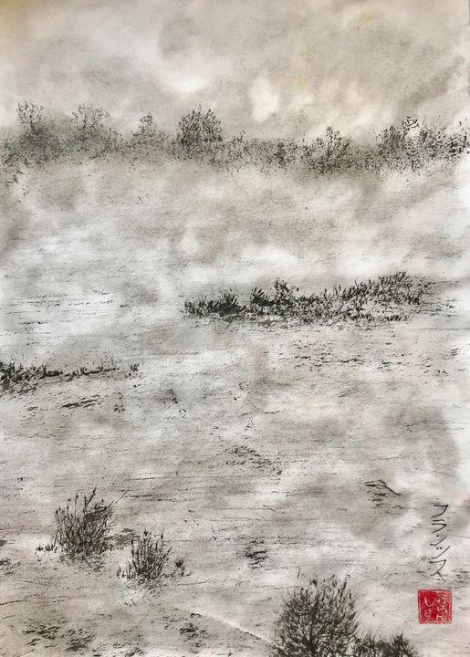 Brumes dans le marais (vendu) - FURANSHISU