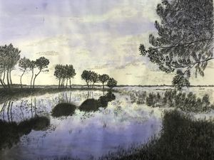 Bord du lac d'Hourtin