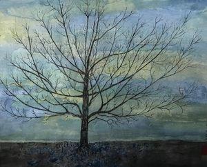 arbre soleil levant