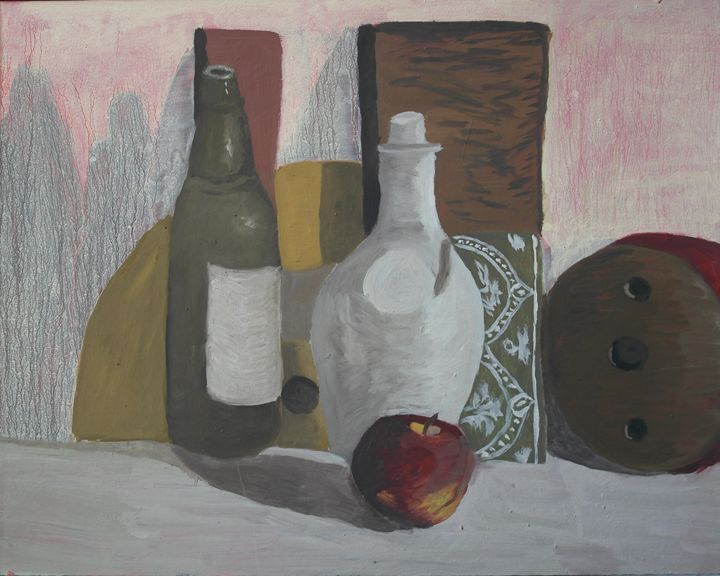 STILL LIFE WITH APPLE (FRUIT) - Vaidoto art