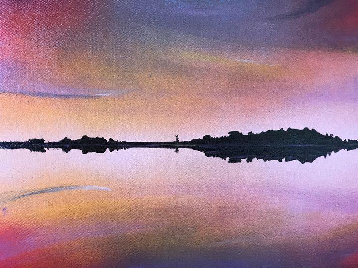 sunset on lake Narraguinnep - pcartistry
