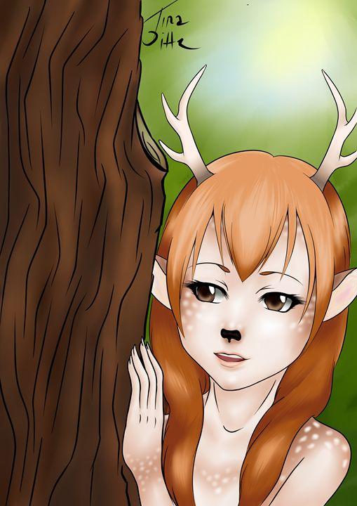 Deer-girl - TinaDitte